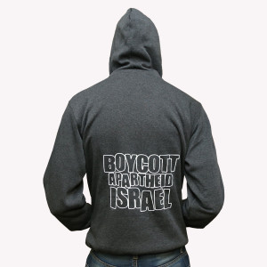 FREE PALESTINE DARK GREY WINTER HOODIES BACK